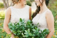 25 greenery bouquets for bridesmaids is a great idea to save on the budget