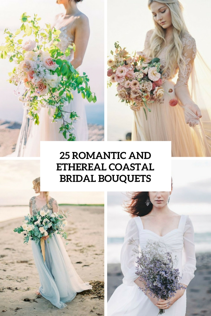 romantic and ethereal coastal wedding bouquets cover