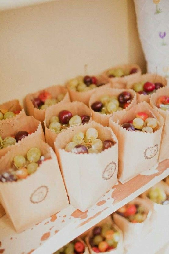 fresh grapes in paper bags will be great for many destination and just for summer weddings
