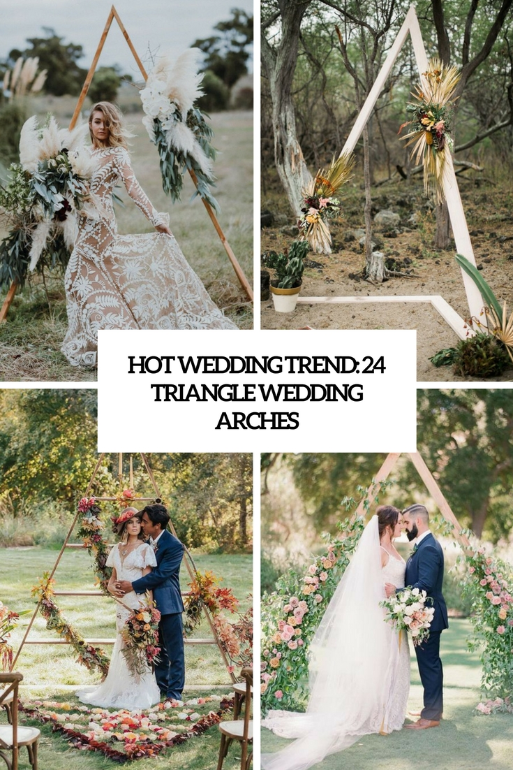 Hot Wedding Trend: 24 Triangle Wedding Arches