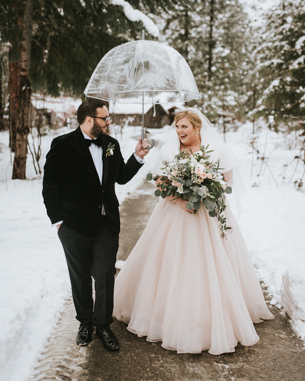 Glam And Romantic Winter Wedding