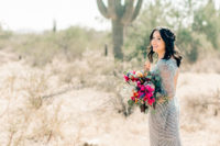 01 This gorgeous wedding took place right in the center of the desert and was colorful and eclectic