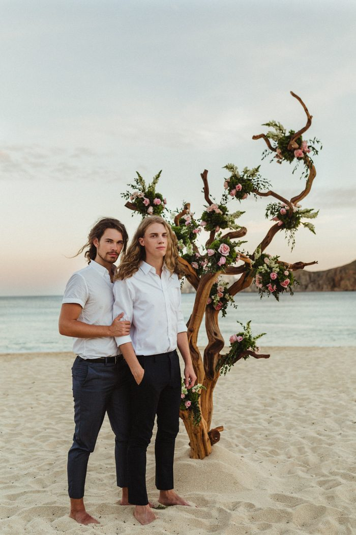 This romantic oceanfront wedding is going to warm up your heart for sure
