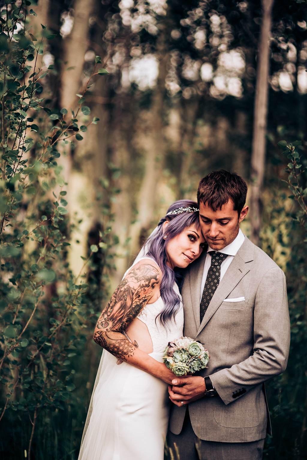This rustic mountain wedding is full of personality and DIY that made it very special