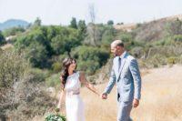bride in a separate