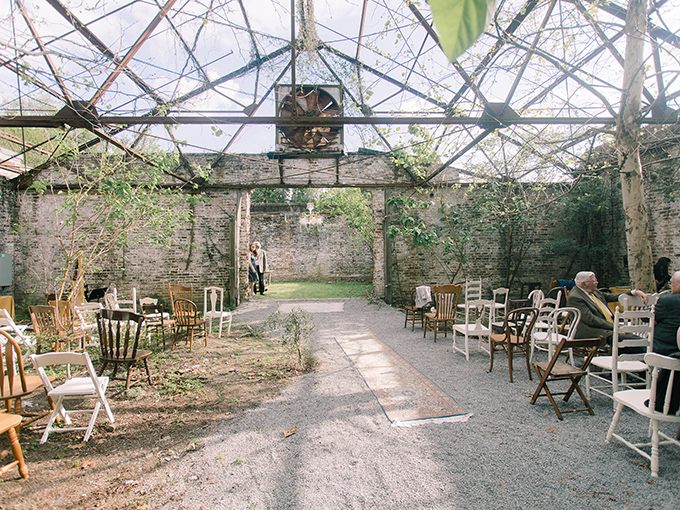 This is an old greenhouse where the ceremony took place