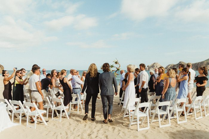 All the closest people came to share this amazing day with the couple