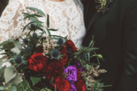 bride with statement earnings