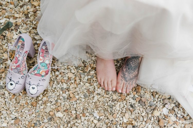 These bridal shoes are super funny, aren't they