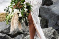 gorgeous beach wedding bouquet