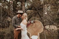 09 a full lace sweetheart neckline off the shoulder mermaid wedding dress with a train for a boho look