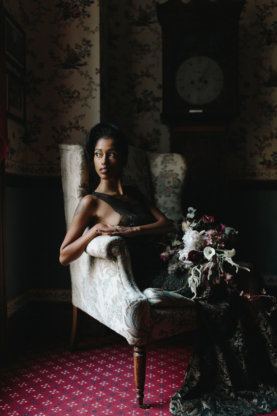 What a gorgeous shoot, get inspired for moody shade for your wedding