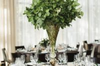 11 an elegant foliage wedding centerpieces and little green branches for each place setting