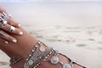 12 gypsy chan  and coins anklets with much detailing to highlight your legs and add a boho feel