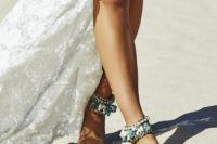 13 gypsy-inspired chain and stone anklets are ideal for a beach, desert or just boho and gypsy bride
