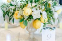 yummy wedding centerpiece with lemons