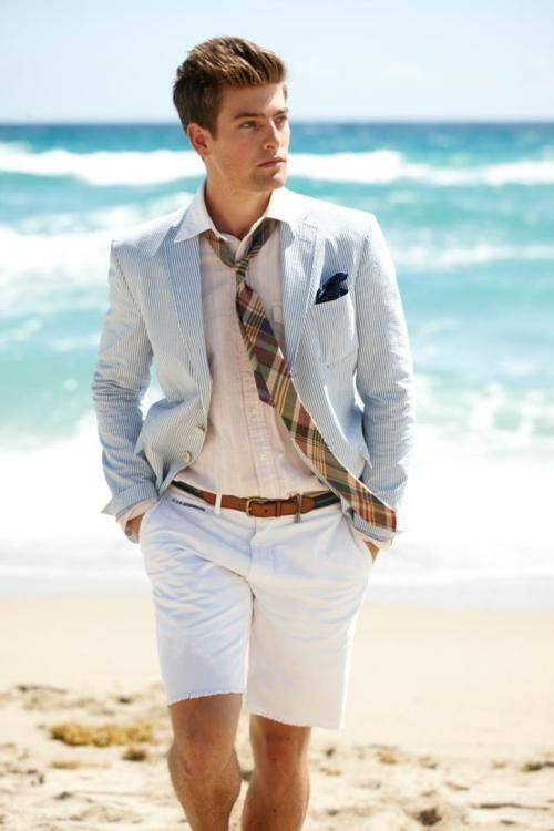 a beach groom wearing shorts instead of pants is a great idea