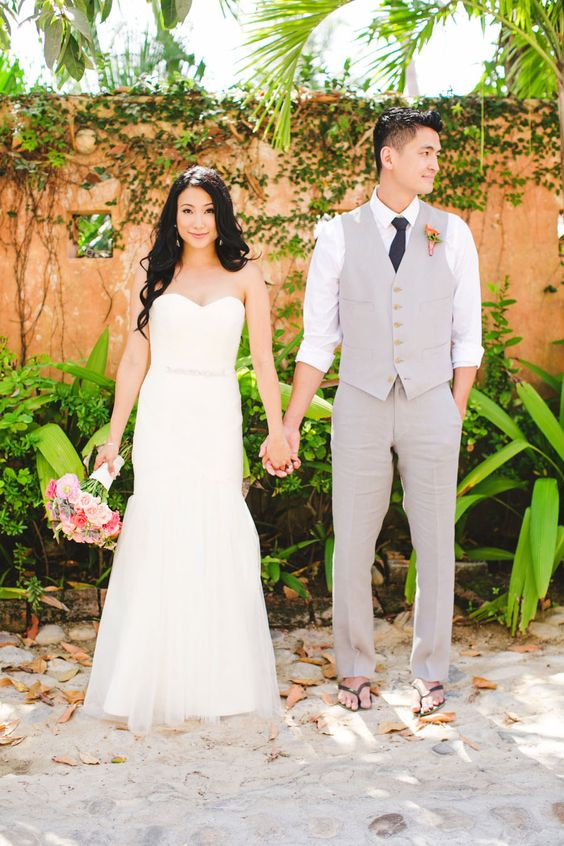 sandals are great to get married on the beach or in the tropics