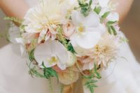 bouquet with dahlias