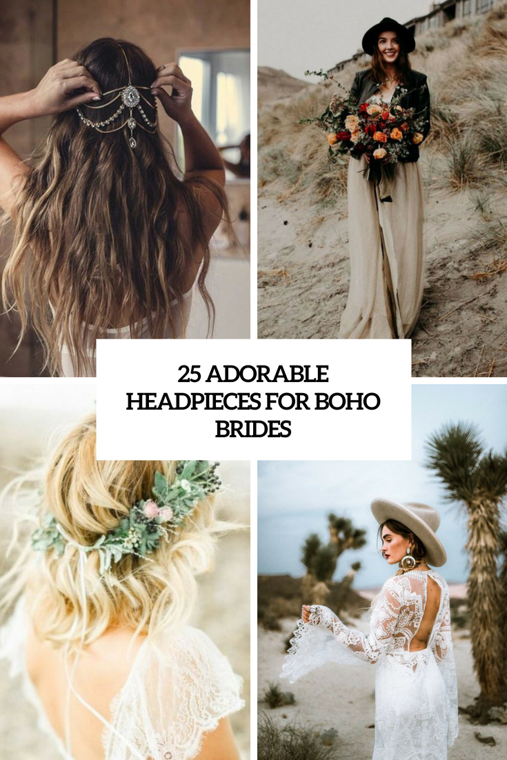 25 Adorable Headpieces For Boho Chic Brides