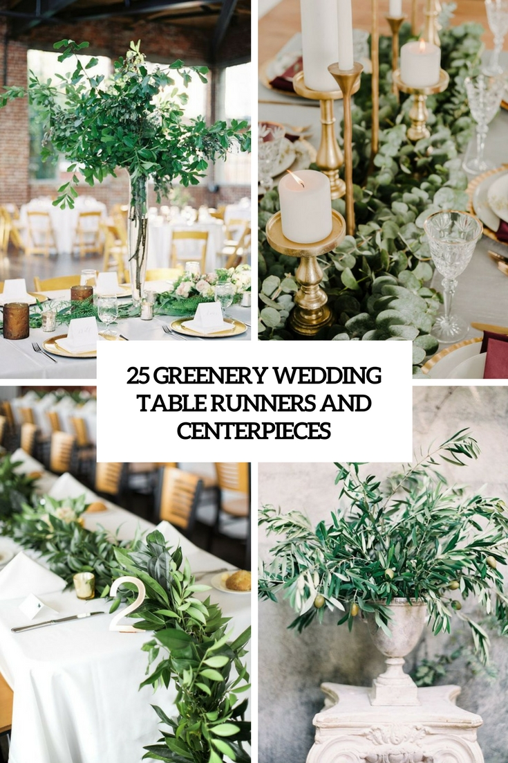 greenery wedding table runners and centerpieces cover