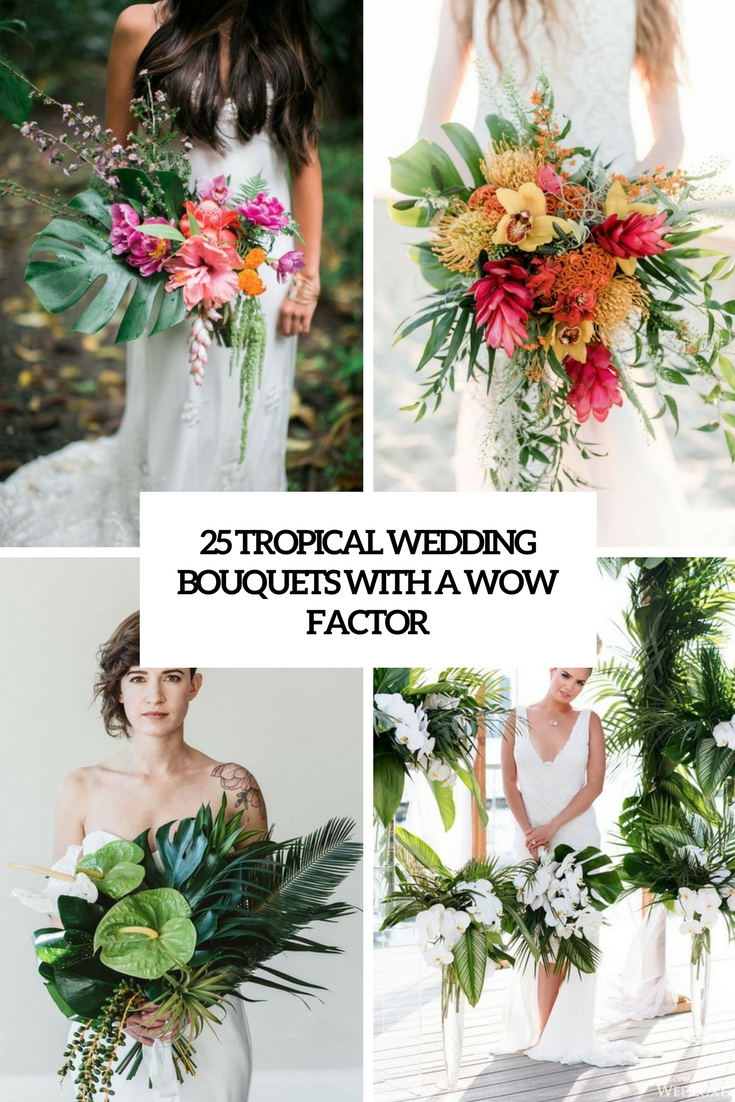 tropical wedding bouquets with a wow factor cover
