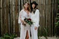 01 This beautiful couple got married in Tulum, the wedding was with rock n roll and moody vibes