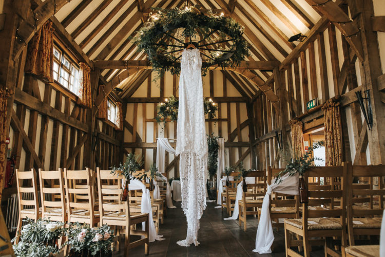 This gorgeous wedding was boho and rustic, with personal touches and DIYs and no color scheme