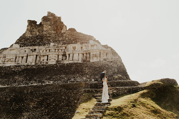 As the couple likes exploring, they chose this unusual location to get married and have adventures before and after the wedding