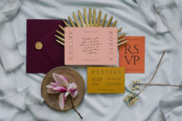 02 The wedding stationery is done in bold colors traditional for Morocco