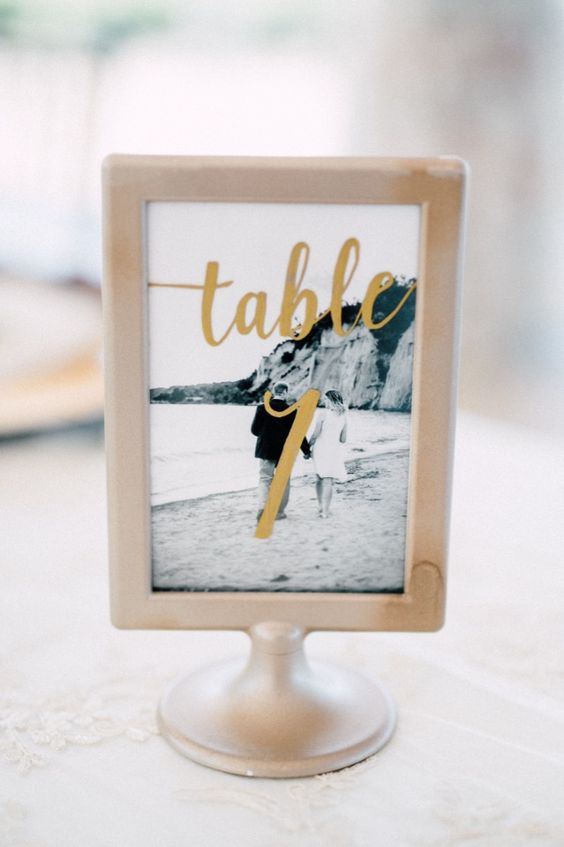 use Tolsby frames and your engagement pics to create romantic table numbers of your own
