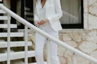 bridal pantsuit look