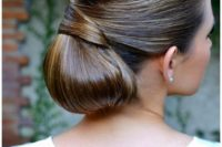 03 a low chignon hairstyle with a tight top and a twist is ideal if you have thick hair