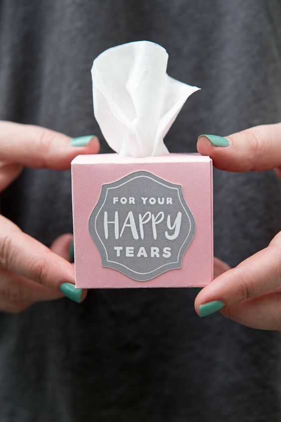 some tissues for your and not only your happy tears are a must