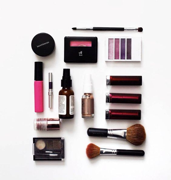 choose some makeup products in travel size to include into your emergency kit