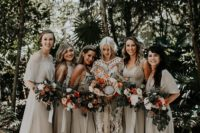 05 The bridesmaids were wearing off-white mismatching dresses