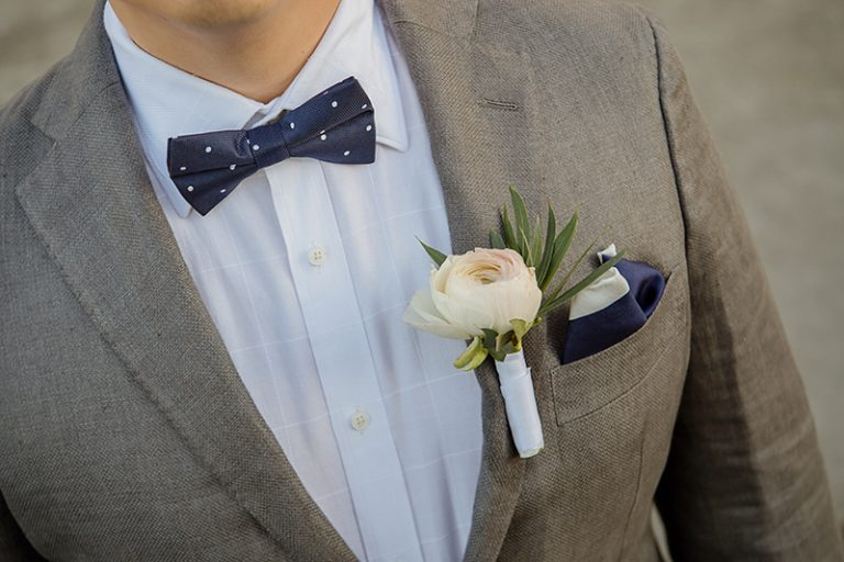 simple yet elegant bow tie for a groom