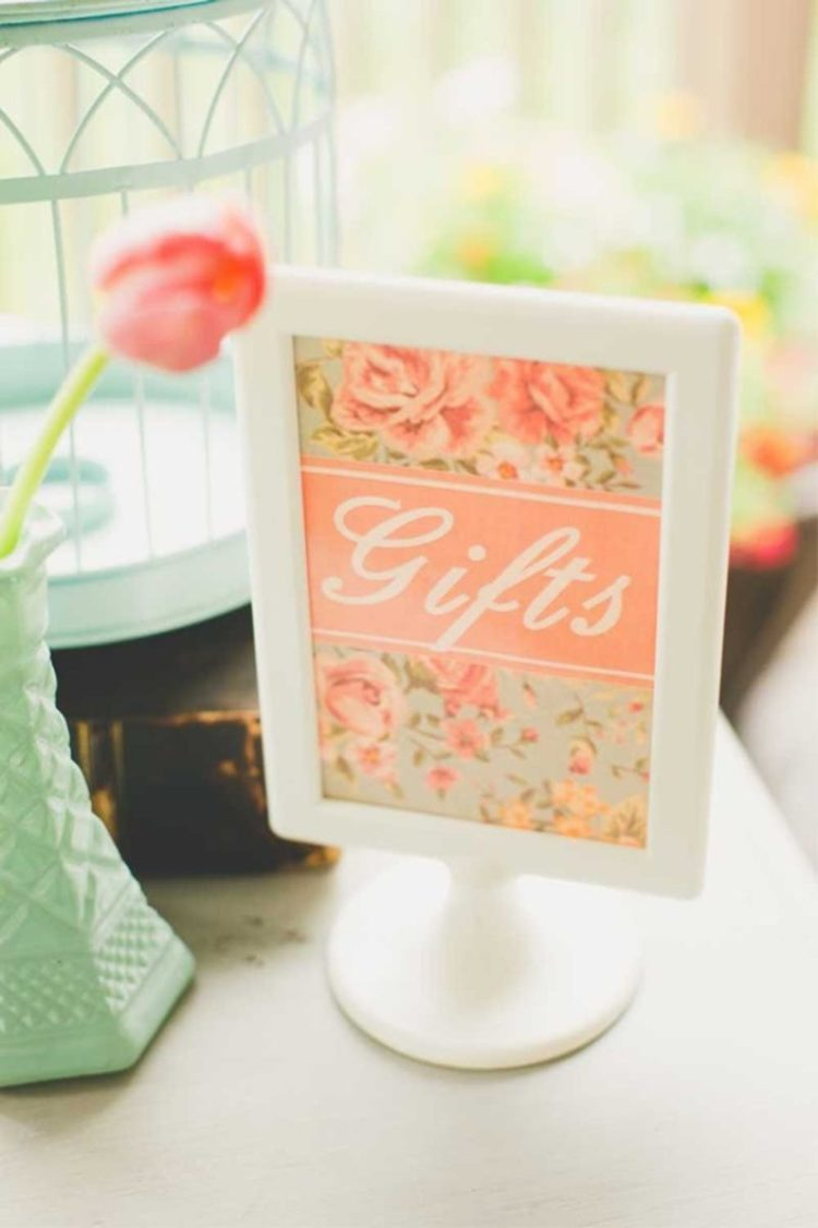 Tolsby frame is turned into a vintage floral sign for a wedding