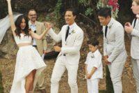 groom's attire for a summer wedding