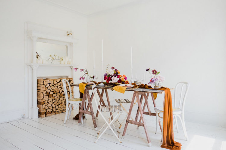 The loft was decorated in traditional Scandinavian style, all-white, and was spruced up with a bright color palette of Morocco