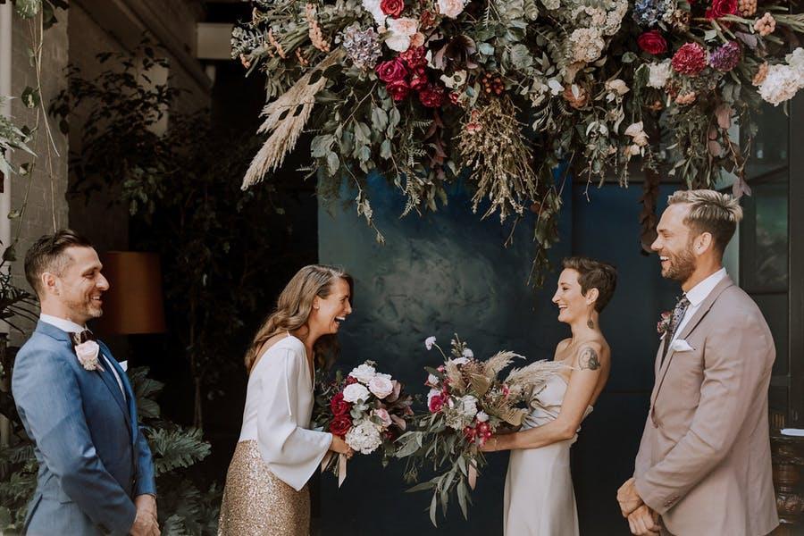 hanging wedding arch alternative