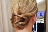 07 a low twisted chignon looks interesting and non-typical, perfect for an elegant look