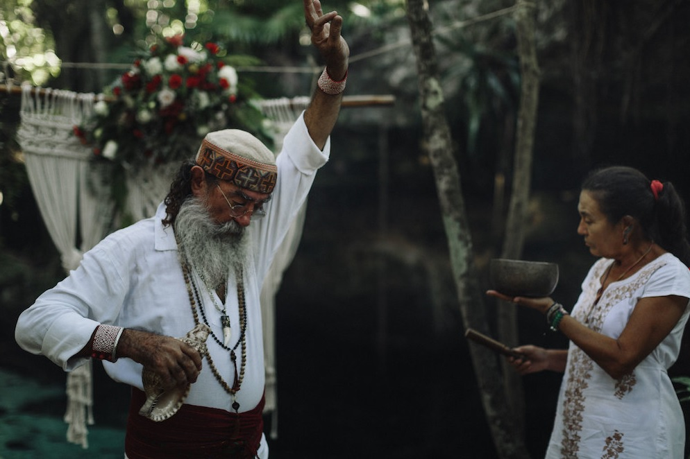 A real shaman and his wife held a traditional Mayan ceremony that felt like magic