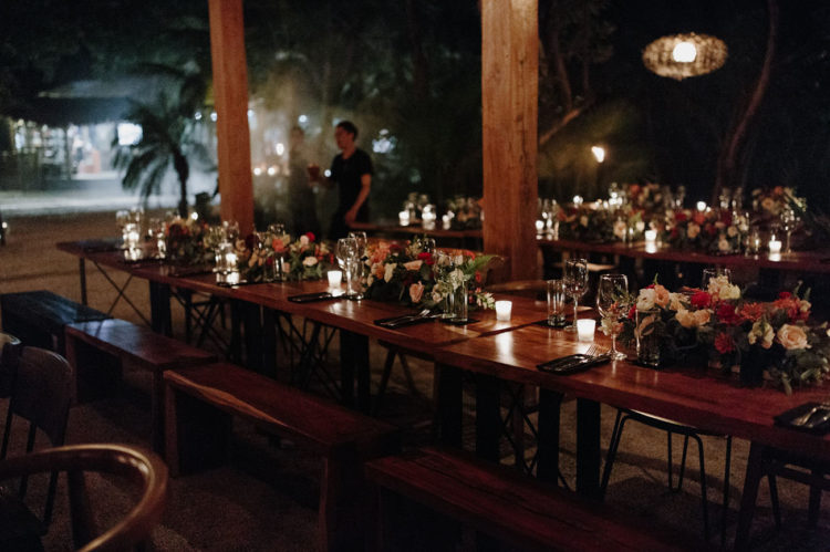 The table settings were done with candles and lush blooms and greenery, the ambience was super cozy