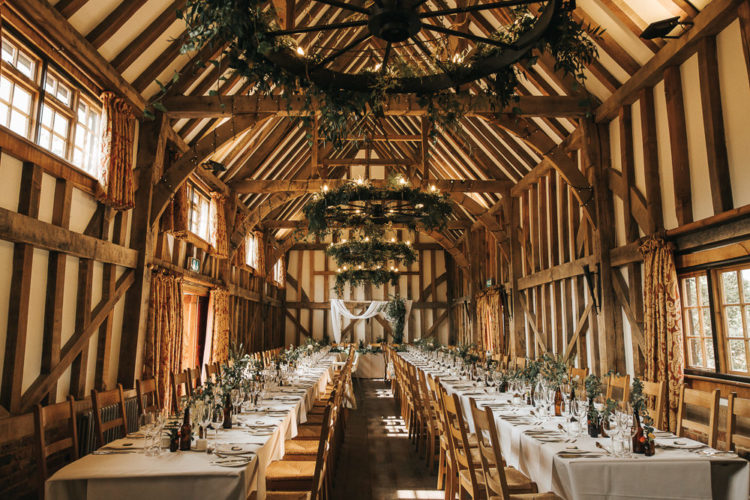 The venue was super cozy, filled with lush greenery, with lots of wood