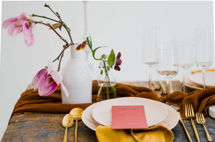 The minimalist bud vases reminded of the minimalist aesthetics of the loft