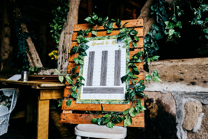The wedding venue was fully personalized and filled with greenery to make it look lively