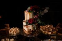 moody glamour wedding cake