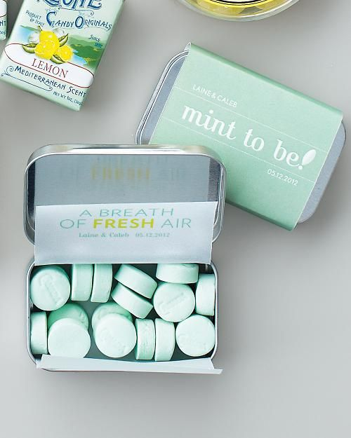 breath mints are always a good idea, include them into your bridesmaids' survival kits, too