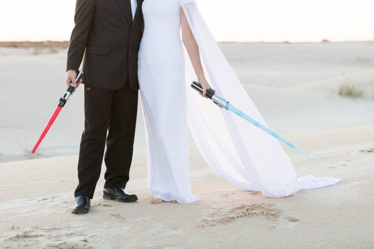 No Star Wars shoot is possible without light sabers